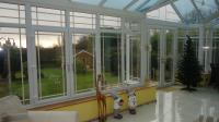 The inside of a conservatory erected for a local homeowner