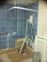 Existing showering arrangement
