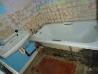 The existing bathroom was completely refurbished.